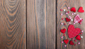 Red hearts shapes Royalty Free Stock Images
