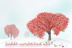 Love tree full of heart shaped leaves Royalty Free Stock Photography