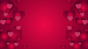 Red hearts St Valentines Day video clip. Red hearts abstract motion graphic design. St Valentines Day video animation clip Ultra HD 4K 3840x2160 stock video footage