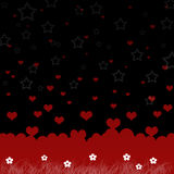 Red hearts and star Royalty Free Stock Images