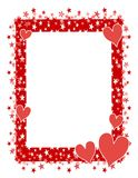 Red Hearts Stars Frame or Border 2 vector illustration