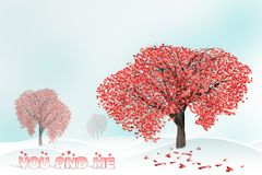 Love tree full of heart shaped leaves Stock Photography