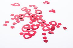Red hearts. In two different sizes Stock Images