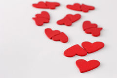 Red hearts united Stock Image