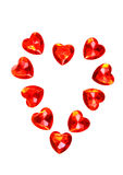 Red Hearts Valentine Stock Photos