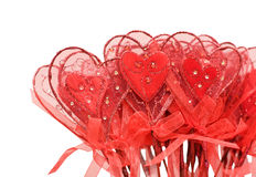 Red hearts for Valentine. Isolated over white royalty free stock image