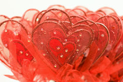 Red hearts for Valentine. On isolated background Royalty Free Stock Photography