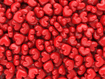 Red hearts valentine background. Red shiny assorted hearts valentine background royalty free illustration
