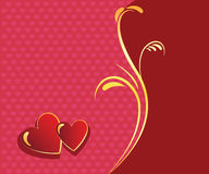 Red hearts valentine background Stock Photography