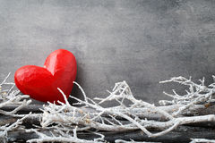 Red hearts. Valentine day greeting cards. Stock Photos