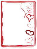 Red hearts Valentine red text Royalty Free Stock Photo
