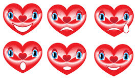 red hearts for Valentine's Day Stock Image