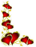 A red hearts valentines background Stock Images