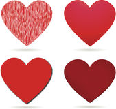 Red hearts for valentines day Stock Image