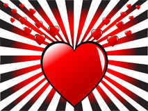 A red hearts valentines day background Royalty Free Stock Photography