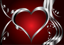 A red hearts Valentines Day Background Stock Image