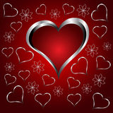 A red hearts Valentines Day Background Stock Photography