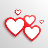 Red hearts Valentines day card. Stock Photography