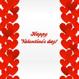 Red hearts valentines day greeting card Royalty Free Stock Images