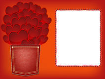 Red hearts valentines greeting card Royalty Free Stock Photo