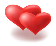 Red hearts. Vector. Vector icon of red hearts Royalty Free Stock Photo