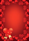 red hearts vector background Royalty Free Stock Photos