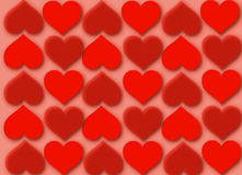 Red hearts vector Royalty Free Stock Images