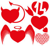 Red hearts. Stock Photos