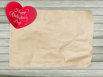 Red hearts on vintage paper background. EPS 10 Stock Photography