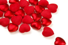 Red hearts on white Stock Images