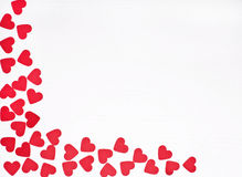 Red hearts  on white Royalty Free Stock Photos