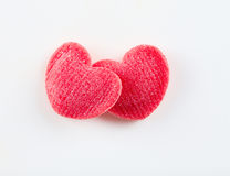Red hearts on white a Stock Photography