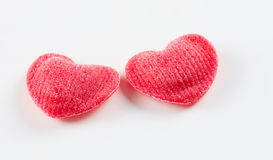 Red hearts on white Royalty Free Stock Image