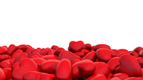 Red hearts on a white background Stock Image