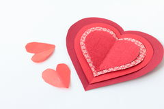 Red hearts on white background. Red nice Hearts  on white background Stock Photos
