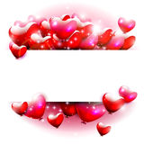 Red hearts on white background Royalty Free Stock Photo