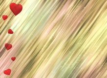 Red hearts on white background romance love shiny