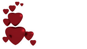 Red hearts on white background. For valentine Stock Photos