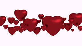Red hearts on white background. For valentine Vector Illustration