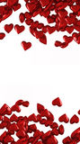 Red hearts on white background Royalty Free Stock Image