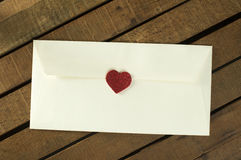 Red hearts and white envelope Stock Photography