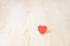 Red hearts on wood Royalty Free Stock Photos