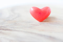Red hearts on wooden background Royalty Free Stock Image