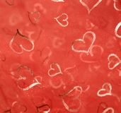 Red heartshape back Stock Photography