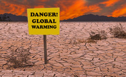 Red Heat or Horrors of Global warming Royalty Free Stock Images