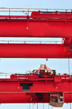 Red heavy load crane Stock Images