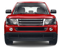 Red heavy suv Stock Photo