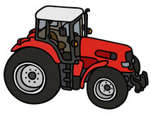 Red heavy tractor Royalty Free Stock Images