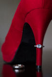 Red Heel and Rings Royalty Free Stock Photo