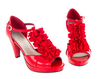 Red heels Royalty Free Stock Images